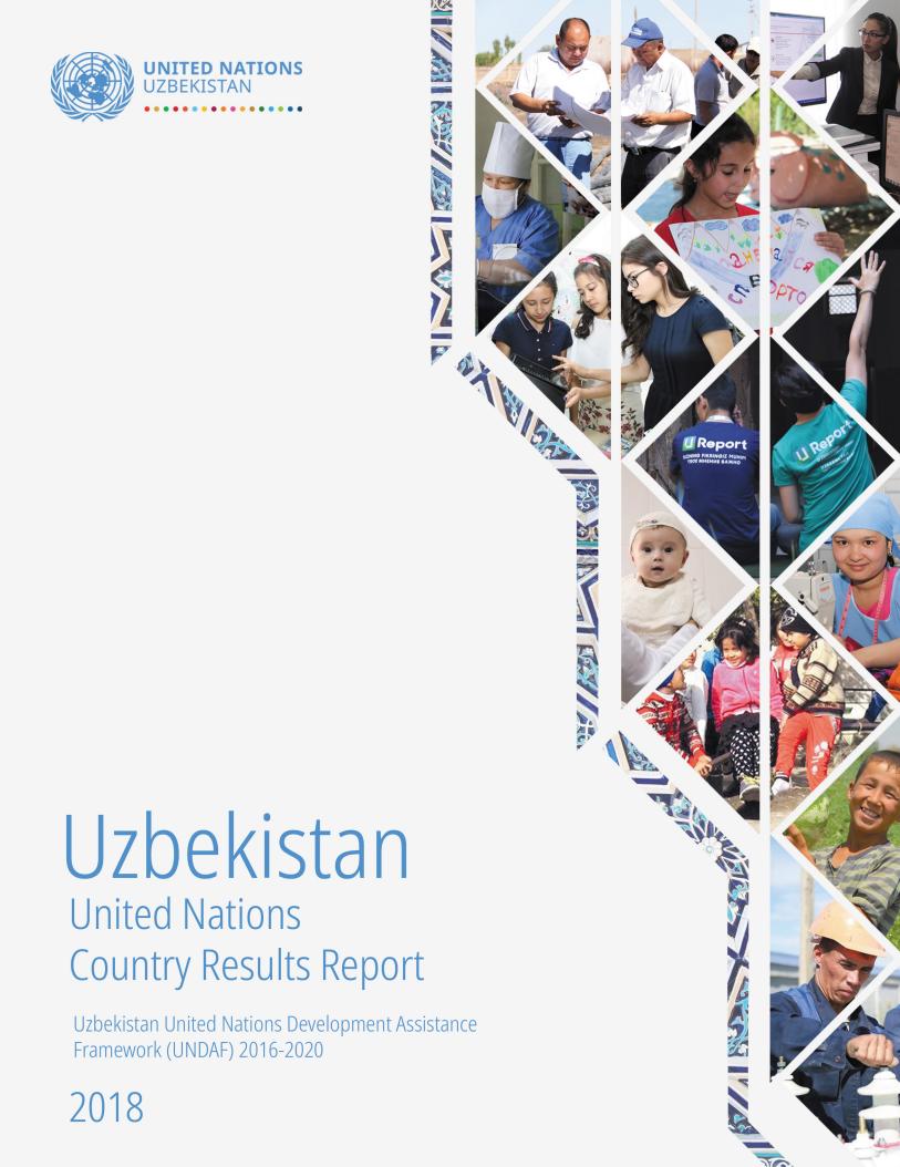 Свместный страновой отчет ООН Узбекистан о результатах 2018 года