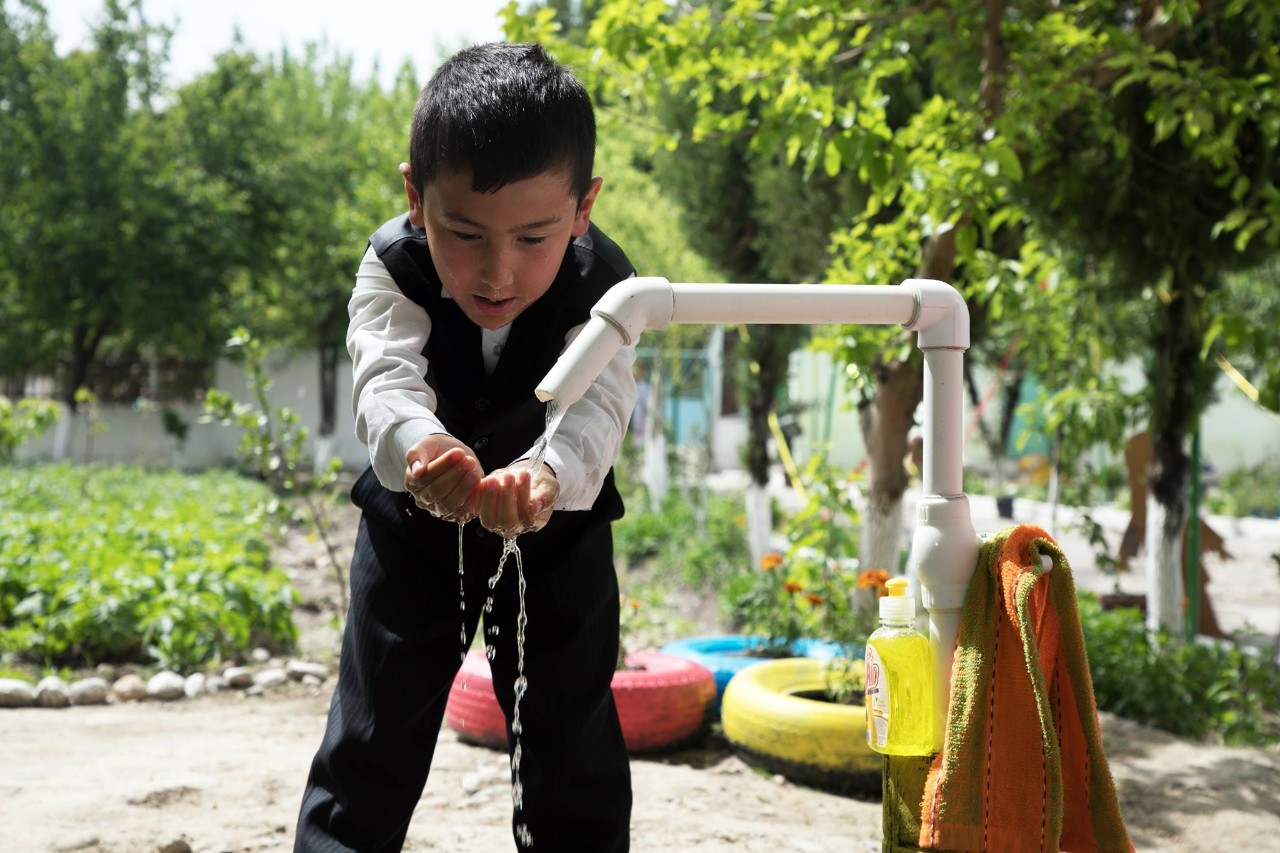 No one carries water in this Uzbek Village...anymore