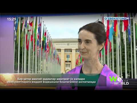 Helena Fraser highlights key areas of cooperation of the United Nations and the Government of Uzbekistan, progress made and remaining priorities